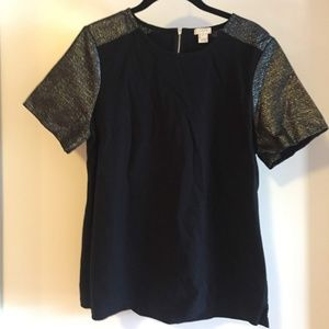 JCrew Glitter Short Sleeve Shirt
